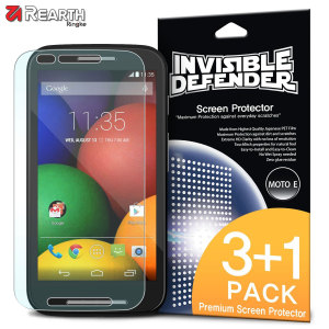 Rearth Invisible Defender 3 + 1 Pack Moto E Screen Protector