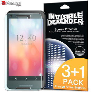Rearth Invisible Defender Nexus 5X Screen Protector - 4 Pack