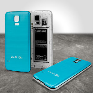 Replacement Aluminium Metal Samsung Galaxy S5 Back Cover - Blue