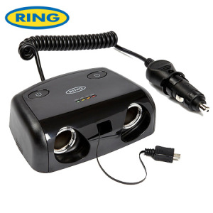 Ring Multisocket 12V Battery Analyser with Power Switch and Micro USB