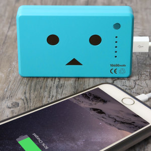 Robot Head Power Bank Portable Charger 10,050mAh - Blue