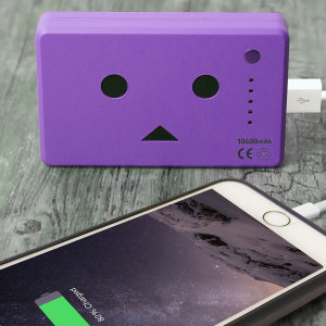 Robot Head Power Bank Portable Charger 10,050mAh - Violet