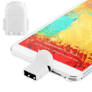 Robot MicroUSB On-The-Go (OTG) Adapter - White