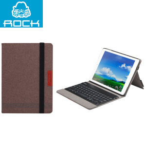 Rock Bluetooth Keyboard Case for iPad Air - Coffee