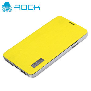 ROCK Elegant Side Flip Case for Samsung Galaxy Note 3 - Yellow