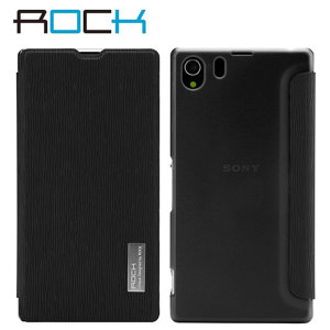 ROCK Elegant Side Flip Case for Sony Xperia Z1 - Black