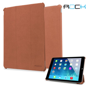 Rock Texture Series Smart Cover for iPad Air - Brown