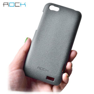 Rock Ultra Thin Quicksand Hard Faceplate HTC One V - Dark Grey