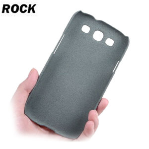 Rock Ultra Thin Quicksand Hard Faceplate - Samsung Galaxy S3 - Grey