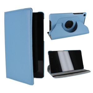 Rotating Leather Case for Google Nexus 7 2013 - Blue