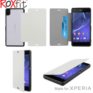 Roxfit Gel Shell Flip Plus Sony Xperia Z3 Case - Polar White