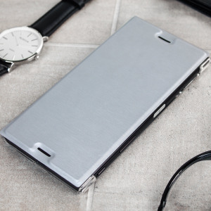 you will find roxfit premium sony xperia xz book case silver clear