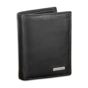 Samsonite S-Derry Genuine Leather RFID Blocking Wallet - Black