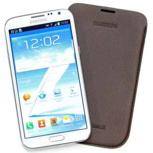 Samsung Galaxy Note 2 Pouch EFC-1J9LDEGSTD - Dark Brown