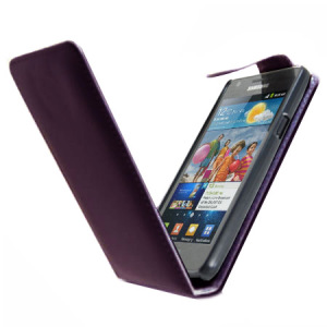 Samsung Galaxy S2 Flip Case - Purple