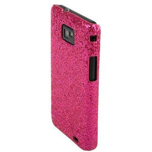 Samsung Galaxy S2 Glitter Case - Pink