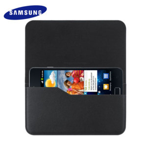 Samsung Galaxy S2 Leather Pouch Case - Black