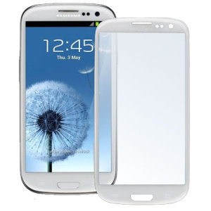 Samsung Galaxy S3 Glass Screen Protector - White