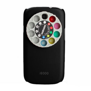 Samsung Galaxy S3 Rotatable Lens and Colour filter case - Black