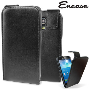 Samsung Galaxy S4 Mini Flip Case - Black