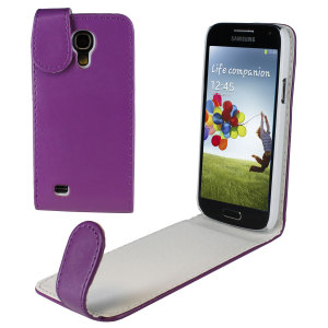 Samsung Galaxy S4 Mini Flip Case - Purple