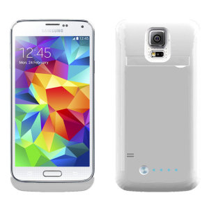 Samsung Galaxy S5 Power Bank Case - White