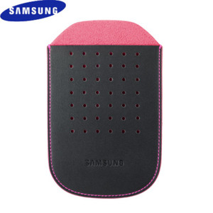 Samsung Genio Leather Pouch - Black / Pink