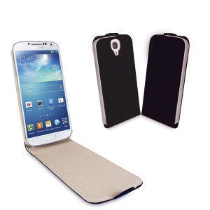 Samsung S4 Flip Case with Sleep/Wake Sensor - Black