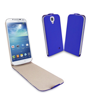 Samsung S4 Flip Case with Sleep/Wake Sensor - Blue