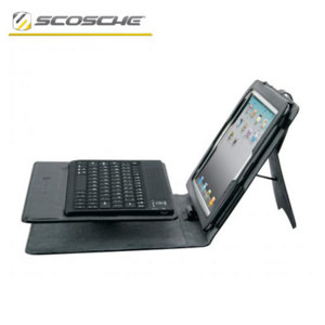 Scosche KeyPad iPad 4 / 3 Folio Case with Bluetooth Keyboard - Black