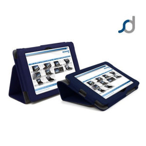 SD Stand and Type Case for Kindle Fire HD 2012 - Blue