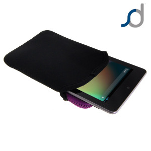 SD TabletWear Google Nexus 7 Slip Pouch - Black / Purple
