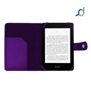 SD TabletWear Leather Style Kindle Paperwhite Cover - Purple