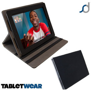SD TabletWear LuxFolioiPad 4 / 3 / 2 Case - Black