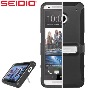 Seidio Dilex Case for HTC One M7  with Kickstand - Black