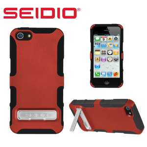 Seidio Dilex Case for iPhone 5S / 5 with Kickstand - Red