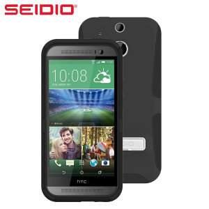 Seidio DILEX HTC One M8 Case with Kickstand - Black
