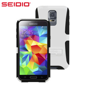 Seidio DILEX Samsung Galaxy S5 Case with Kickstand  - Gloss White