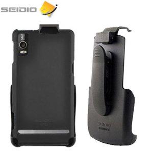 Seidio Motorola Milestone 2 Innocase Surface Combo Case - Black