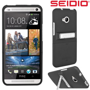 Seidio Surface Case with Kickstand for HTC One M7 - Black