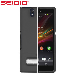 Seidio Surface Case with Kickstand for Sony Xperia Z - Black