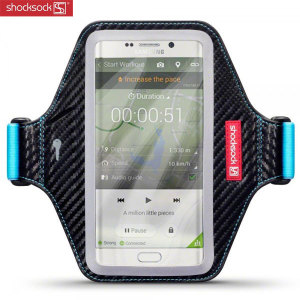 Shocksock Premium Samsung Galaxy S6 Edge Plus Armband - Black