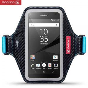 Shocksock Premium Sony Xperia Z5 Armband - Black / Blue