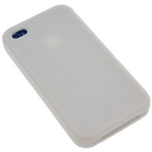 Silicone Case For iPhone 4 - White.