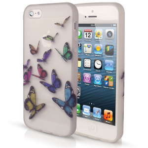 Silicone Case for iPhone 5S / 5 - Butterfly Design