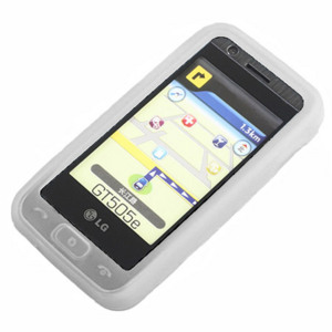 Silicone Case for LG GT505 - White