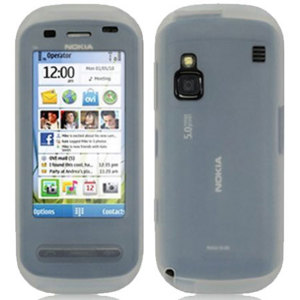 Silicone Case for Nokia C6 - White