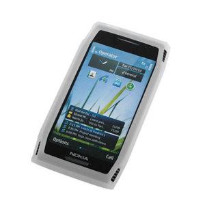 Silicone case for Nokia X7 - White