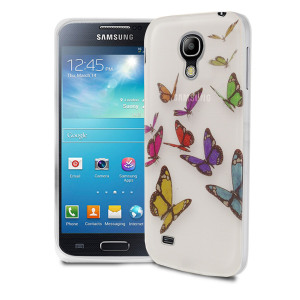 Silicone Case for Samsung Galaxy S4 Mini - Butterflies