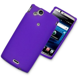 Silicone Case For Sony Ericsson Xperia arc S / arc - Purple